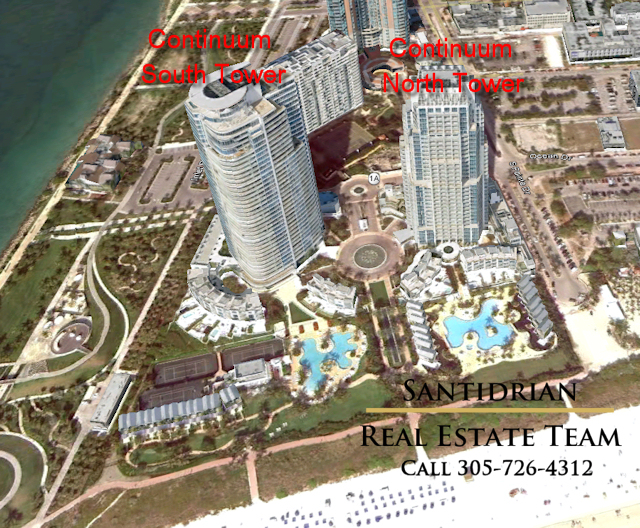 Continuum Towers - Continuum South Beach on South Pointe Park