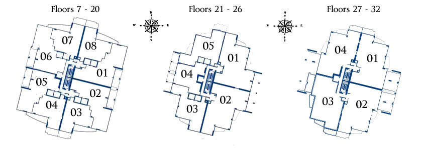 Continuum North Tower Floor Plan Map
